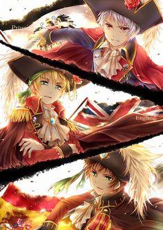 Hetalia - Prussia, Britain and Spain