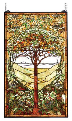Meyda Tiffany Tiffany Tree of Life Stained Glass Window & Reviews   Wayfair