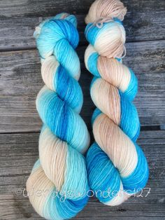 If its the Beaches, Gradient Dyed Yarn, Hand Dyed Yarn, Fingering Weight, Merino, MADE TO ORDER