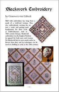 Blackwork Embroidery Primer Booklet by Genoveva von Lübeck - Free!