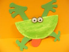 Rivet Rivet ...Paperplate frog! For full instructions click here http://playresource.org/paper-plate-frog/