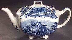 Johnson Brothers OLD BRITAIN CASTLES BLUE (MADE IN CHINA) Tea Pot 4741001