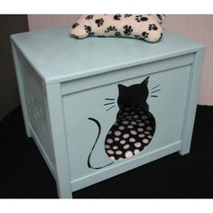 Cat House Combo Bed or Litter Box Cover Kitty Design