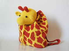 Giraffe Backpack - Allcrochetpatterns.net