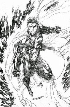 Earth 2 Superman by Brett Booth *