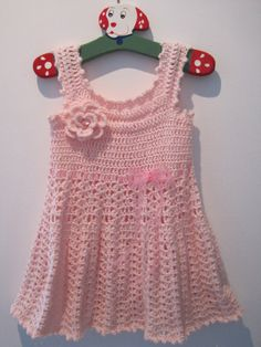 Cute Handmade Crochet Baby Dress por SharyTiff en Etsy