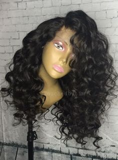 200% Density  Bouffant Body Wave Lace Front Human Hair Wig - Touchedbytim016