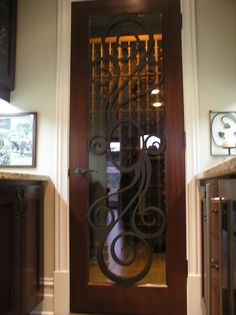 wrought iron interior door