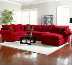 12 Best Red sectional images | Red sofa, Living room decor ...