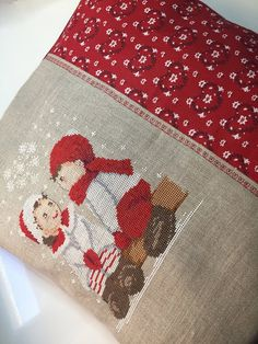 Cross Stitch Finishing, Christmas Is Coming, Cross Stitching, Decorative Pillows, Cross Stitch, Throw Pillows, Craft, Accent Pillows, Dots
