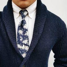 GANT Herren Texture Zip Strickjacke, Blau (Indigo Blue), S