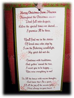 first christmas in heaven poem printable my - Merry Christmas From Heaven Poem