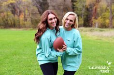 Chi Omega and Comfort Colors Crewnecks... bring on the fall! [Models are wearing Comfort Colors Crewneck Sweatshirts #1566] | Chi Omega | Made by University Tees | www.universitytees.com