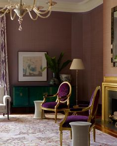 Mauve Living Room | The House That Love Built by Beth Wiseman