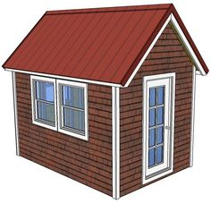 This set of free tiny house plans is a classic 8' x 12' house with a 12/12 pitched roof. The plans are 20 pages and are drawn to the same level of detail as my other tiny house plans. The walls are...