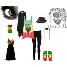 ALL THINGS RASTA ......, created by charlsie1108.polyvore.com