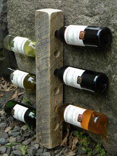 Beam Wine Rack Rustic Wine Rack Wedding Gift by JNMRusticDesigns