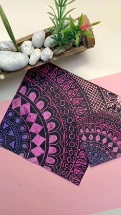 Oil Pastel Drawings Easy, Oil Pastel Art, Oil Pastel Paintings, Oil Pastels, Colorful Drawings, Mandala Art Therapy, Mandala Art Lesson, Easy Mandala Drawing, Doodle Art Drawing