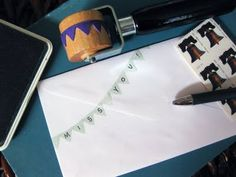 How to make a pennant rubber stamp roller