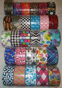 Patterned Duck Brand Duct Tape Roll --  27 Choices  Need to buy all these for ME