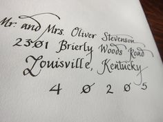 HandWritten Calligraphy Envelopes by Meeb on Etsy, $1.50