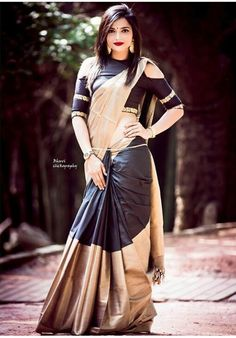 Pavi Padukone a rising beautiful, sensational and Hot Indian Fashion Model and Fitness enthusiast Fancy Sarees Party Wear, Kurti Designs Party Wear, Designer Blouse Patterns, Blouse Designs, Indian Designer Sarees, Indian Sarees, Silk Sarees, Bride Reception Dresses, Sari Design