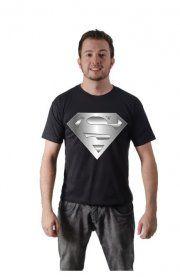 Camiseta Superman Logo Prata, algodão, variedade de tamanhos e cores.