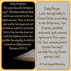 Daily Scripture & Prayer #atruegospelministry