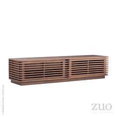Linea Wide TV Stand Walnut   Zuo Modern 199052