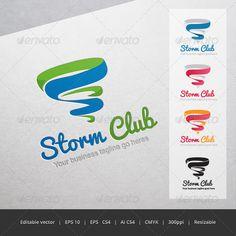 Storm Club - Logo Design Template Vector #logotype Download it here: http://graphicriver.net/item/storm-club-logo/5352817?s_rank=1265?ref=nesto
