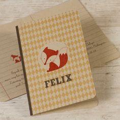 Ecokaart met vosje - geel