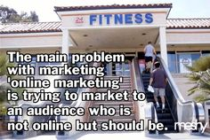 The irony of marketing online marketing.