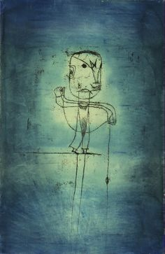 Paul Klee - The Angler, 1921, watercolor, transfer drawing and ink on paper