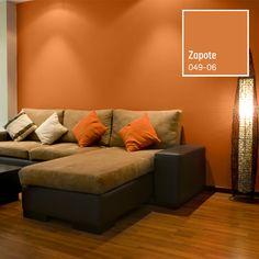 Si lo que buscas es un ambiente cálido y acogedor, entonces el color naranja es para ti. Living Room Decor Purple, Living Room Orange, Paint Colors For Living Room, Paint Colors For Home, Room Color Schemes, Room Colors, Coral Bathroom Decor, Home Wall Painting, Color Naranja