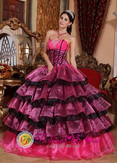 Brand New Multi-color Quinceanera Dress For 2013 Plant City Florida Sweetheart Organza Ruffles Ball Gown, Gorgeous Quinceanera Dresses, quinceanera gowns & dresses
