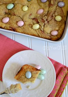 Raspberry Snack Cake for Easter Brunch with Cost Plus World Market - Crazy for Crust >>  #WorldMarket Easter Style Hunt Sweepstakes. Enter to win a 1K World Market gift card.