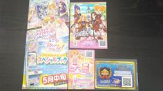 "Trading card of Japanese Animation ""AIKATSU STARS"" 3 promo cards and Flyer set"