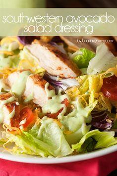 Southwestern Avocado Salad Dressing - made with avocado, cilantro, and lime!