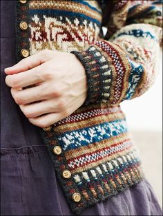 from agrabrewski, this cardi is in Fearless Fair Isle Knitting.