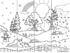 4 saisons dessin à colorier - Recherche Google