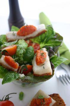 La quenelle du jour - 13/01/2014 - tartine de pain d'épice à l'ossau iraty, quenelle de fondue de tomate
