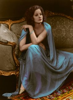 Greta Garbo, (in color)