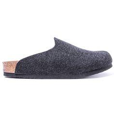 Birkenstock AMSTERDAM Flats Clogs Slides Slipper or Houseshoe Dark Gray Shoes #Birkenstock #LoafersSlipOns