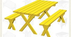 10 FREE Picnic Table Plans | Picnic Tables, Picnic Table Plans and Picnics