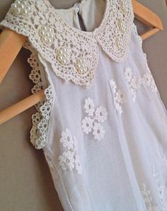 Vintage Lace Formal Dress Flower Girl Dress Beaded by UniqueYou