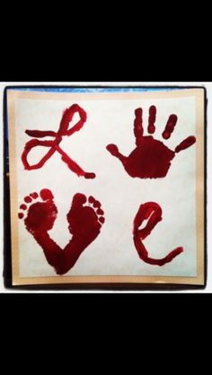 Adore this idea// Cute Valentine's day handprint crafts for kids! Kids Crafts, Baby Crafts, Cute Crafts, Crafts To Do, Projects For Kids, Craft Projects, Craft Ideas, Fun Ideas, Crafts For Babies