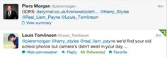 one direction funny pics   ... Harry Styles One Direction liam payne funny mine tweets piers morgan