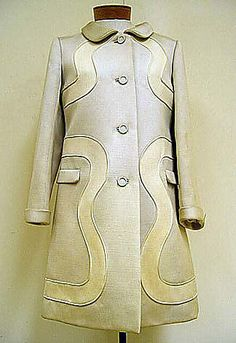 Wool coat, by André Courrèges, French, 1968-69.