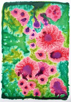 Floral sugarpainting by Alicia Sivertsson.