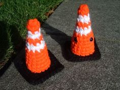 47's Knitting and Crochet Patterns: Amigurumi Traffic Cone